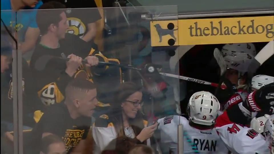 Brazen Bruins fan tries to steal Wideman s stick after Senators win -  Sportsnet.ca 80d5695f23cc