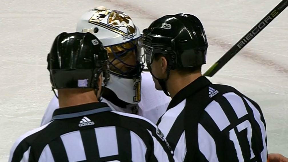 Luongo In Ref S Face After Bad Goal Call Overturned After Coach S
