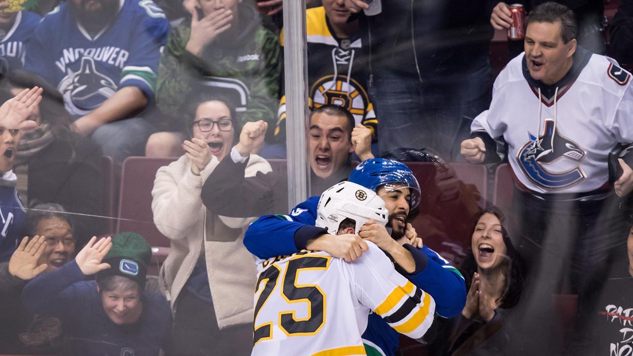 Boston Bruins vs  Vancouver Canucks